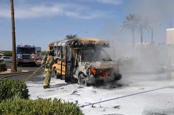 School bus fire By Jennifer Thomas