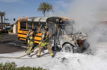 School bus fire By Jennifer Thomas