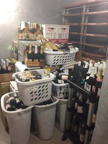 """Hundreds of bottles of apple cider donated by parents so students can do """"toasts"""" during the White House Dinner By Tami Hoey"""