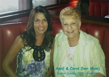 """My daughter, April, took me to Houston's for dinner a few Mother's days ago. She is the best daughter a """"MOM"""" could have. I just love this photo of the both of us. By Catherine Holland"""