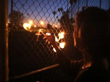 A candlelight vigil was held Wednesday night at Coronado Park in Phoenix. By Jennifer Thomas