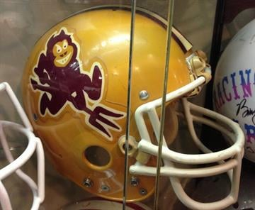 13) Blurry Sparky: Sparky made his debut on the Sun Devil helmets in 1980. It's a decent first draft, but Sparky didn't lose his baby fat and become the defined Devil we know today until 1985. By Brad Denny