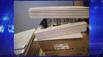 CBP officers found marijuana in boxes of floor tile. By Jennifer Thomas
