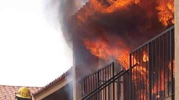 A fire broke out at an apartment complex near Bell Road and 11th Avenue in Phoenix. By Jennifer Thomas