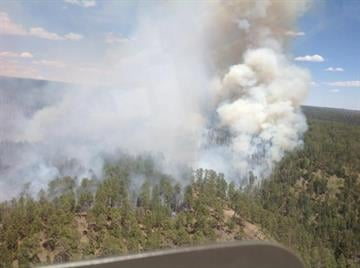May 27 aerial view of the Galahad Fire By Jennifer Thomas