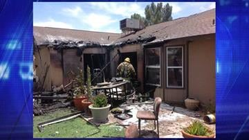 House fire near 51st Avenue and Thunderbird Road By Jennifer Thomas