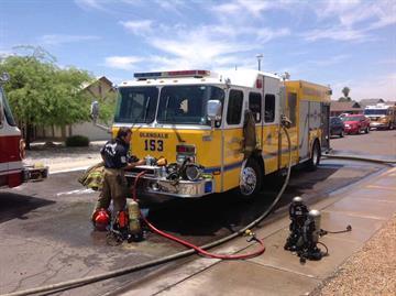 House fire near 51st Avenue and Thunderbird Road By Jennifer Thomas