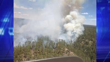 May 27 aerial view of the Galahad Fire By Christina O'Haver
