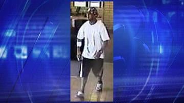 Surveillance photo of robbery suspect at BBVA Compass Bank By Jennifer Thomas