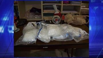 The methamphetamine weighed approximately 5 pounds. By Jennifer Thomas