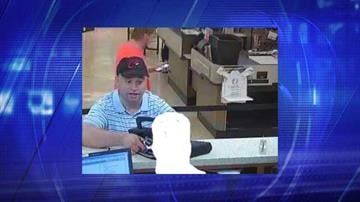 Surveillance photo from robbery at Wells Fargo Bank near Hayden and Chaparral roads in Scottsdale on June 11. By Jennifer Thomas