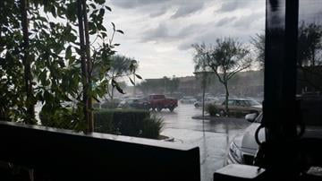 Rain at Frank Lloyd Wright Boulevard and Scottsdale Road By Christina O'Haver