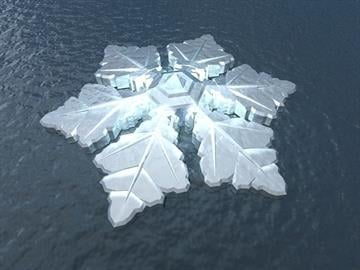 The 86-room Krystall hotel is scheduled to be built off the coast of Tromso, Norway, in 2016. By Dutch Docklands