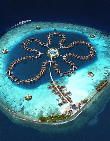 Krystall's designers, Dutch Dockyards, are already involved in constructing Ocean Flower, a floating resort off the coast of the Maldives. By Dutch Docklands