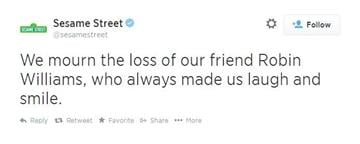 Sesame Street mourns the loss of actor Robin Williams. By Sesame Street