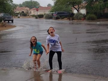 Playing after the storm in Fountain Hills By Brad Denny