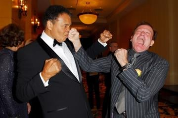 Robin Williams and Muhammad Ali at Celebrity Fight Night XII on March 18, 2006 By Catherine Holland