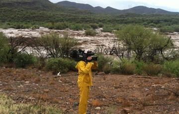 3TV photographer Chris Morice in the Table Mesa Road area in New River. By Jennifer Thomas