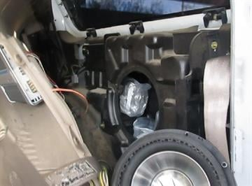 CBP officers assigned to the Port of Lukeville located packages of marijuana within the rear compartment of an SUV attempting to enter the United States. By Jennifer Thomas