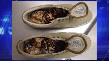 More than a pound of heroin was secured by officers after searching a man's shoes at the Morley Pedestrian crossing. By Jennifer Thomas