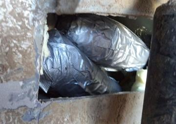 Officers at the DeConcini crossing seized 3.5 pounds of heroin from a compartment within the wheel well of a smuggling vehicle. By Jennifer Thomas