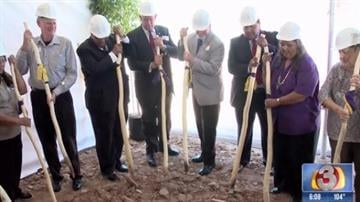 Leaders of the Tohono O'odham Nation and this West Valley city broke ground Thursday on a $400 million casino resort that has been the subject of lawsuits and legislation to block it. By Mike Gertzman