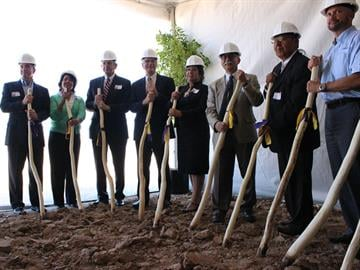 Representatives of the Tohono O'odham Nation, Glendale and other entities broke ground Friday on the site of a $400 million casino resort in the West Valley. By Mike Gertzman