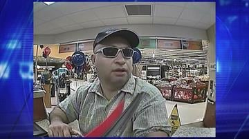 Surveillance photo from robbery at U.S. Bank at Ray and Rural roads in Tempe on Sept. 9. By Jennifer Thomas