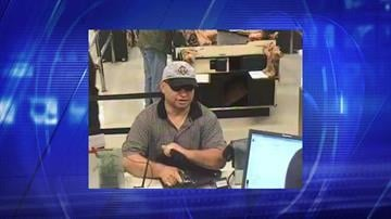 Surveillance photo from robbery at Wells Fargo Bank near Baseline and Dobson roads in Mesa on July 26. By Jennifer Thomas