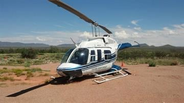 The Cochise County Sheriff's Office's helicopter was forced to make a hard landing southwest of Tombstone. By Jennifer Thomas