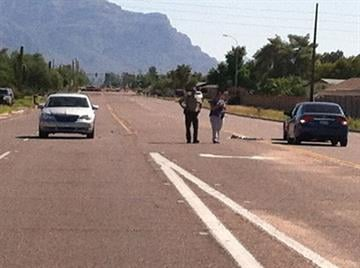 According to MCSO, the silver car is the shooting victim's vehicle. By Jennifer Thomas