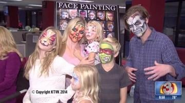 Jocelyn Casdorph, owner of Arizona Face Painting, says face painting is all the costume you need and it does not have to take a long time or be expensive. By Catherine Holland