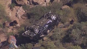 A car went over a cliff near Tortilla Flat. By Jennifer Thomas