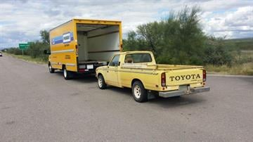 Seized Penske truck and towed Toyota pickup By Jennifer Thomas