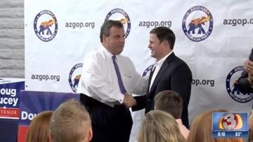 New Jersey Gov. Chris Christie swung through Arizona on Oct. 2 to help campaign for Republican gubernatorial candidate Doug Ducey. By Christina O'Haver