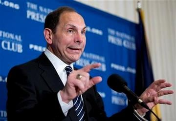 Veterans Affairs Secretary Robert McDonald speaks about his efforts to improve services veterans, Friday, Nov. 7, 2014, during a news conference at the National Press Club in Washington. (AP Photo/Manuel Balce Ceneta) By Manuel Balce Ceneta