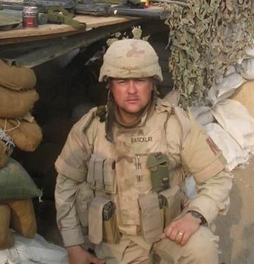 Sgt. First Class Jasen Barcklay in December 2005 By Christina O'Haver