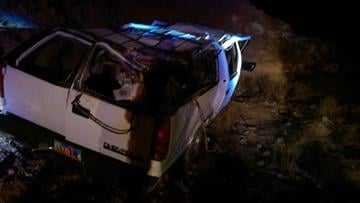 All seven occupants survived a rollover accident. By Jennifer Thomas