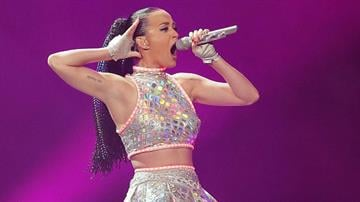SYDNEY, AUSTRALIA - NOVEMBER 21:  Katy Perry performs live at Allphones Arena on November 21, 2014 in Sydney, Australia.  (Photo by Mark Metcalfe/Getty Images) By Mark Metcalfe
