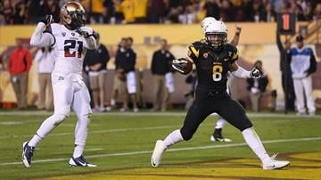 Will ASU running back D.J. Foster (8) once again top the Wildcats? By Christian Petersen
