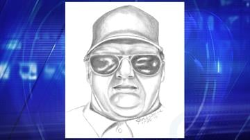 Sketch of kidnapping suspect By Jennifer Thomas