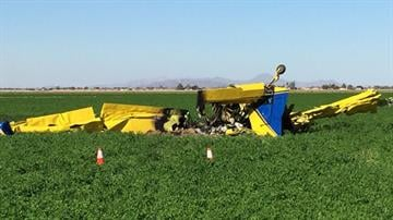A crop duster crashed near Somerton early Sunday morning. By Jennifer Thomas