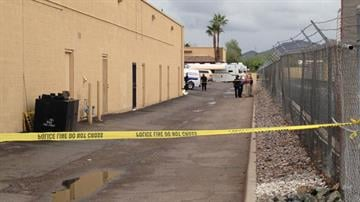 A body was found behind a shopping center at 16th Street and Bell Road in Phoenix. By Jennifer Thomas