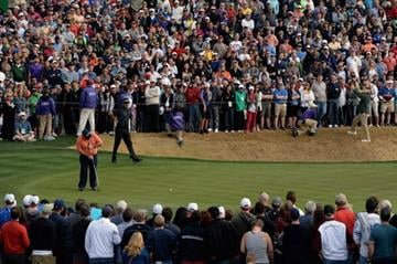 SCOTTSDALE, AZ - FEBRUARY 02: Kevin Stadler plays a shot on the 18th hole during the final round of the Waste Management Phoenix Open at TPC Scottsdale on February 2, 2014 in Scottsdale, Arizona.  (Photo by Patrick Smith/Getty Images) By Patrick Smith