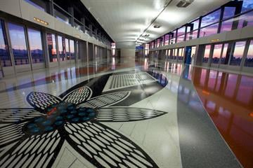 Terminal 3 PHX Sky Train Station By Jennifer Thomas