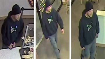 Surprise police are looking for this man in connection with the armed robbery of a Jersey Mike's Subs on Saturday. By Catherine Holland