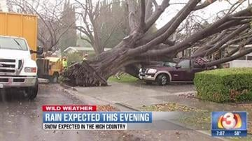 A powerful storm churned down the West Coast on Thursday, bringing strong gales and much-needed rain and snow that caused widespread blackouts in Northern California and whiteouts in the Sierra Nevada. By Mike Gertzman