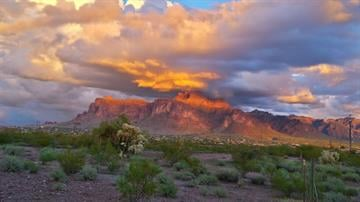 Superstition Mountains By Christina O'Haver