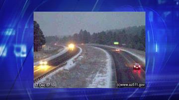 Expect snow on I-17 heading up to Flagstaff. By Jennifer Thomas