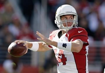 SANTA CLARA, CA - DECEMBER 28:  Ryan Lindley #14 of the Arizona Cardinals passes in the first quarter against the San Francisco 49ersat Levi's Stadium on December 28, 2014 in Santa Clara, California.  (Photo by Ezra Shaw/Getty Images) By Ezra Shaw